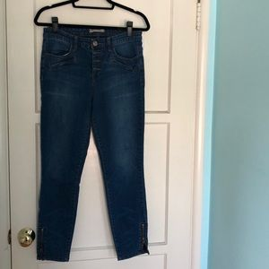 Free People Cropped Jean w/ Zipper detail